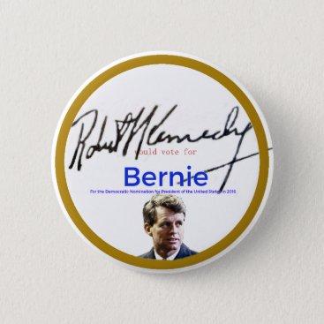 RFK for Bernie Sanders Pinback Button
