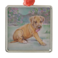 Rhodesian Ridgeback Puppy Ornament