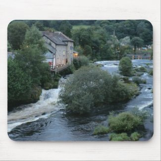 River Dee at Llangollen, Wales Mouse Pads