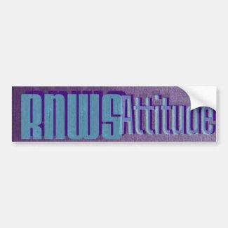 RNWS Attitude Bumper Sticker