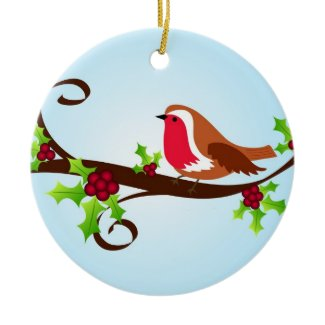 Robin holly - Ornament ornament