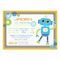 Robot Invitation / Robot Party / Robot Birthday