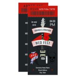 Rock And Roll Wedding Invitations Retro Invites