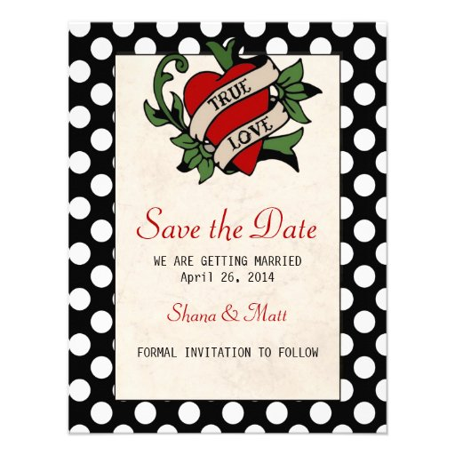 Rockabilly Wedding Invitations