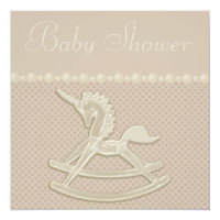 Rocking Horse Unicorn Neutral Baby Shower Card