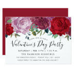 Romantic Floral Blooms Valentine's Day Party Invitation
