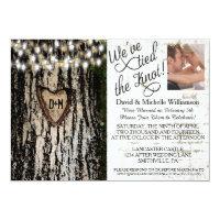 Romantic Lights & Tree Post Wedding Photo Invite