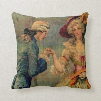 Romantic Meeting Throw Pillows