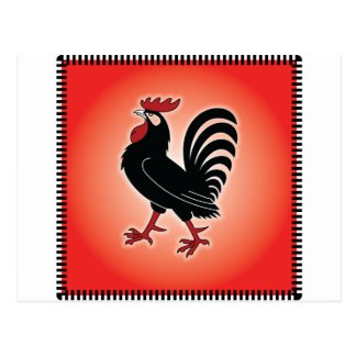 Rooster Attitude Postcard