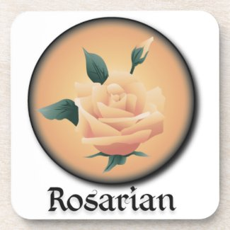 Rosarian Peach Drink Coasters