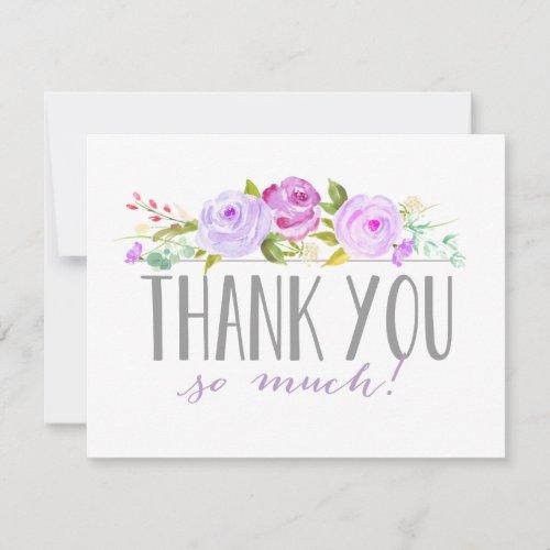 Rose Garden Purple | Thank You Card