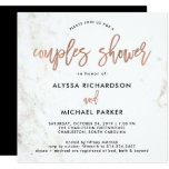 Rose Gold Modern Script | Marble Couples Shower Invitation