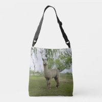 Rose Grey Alpaca Crossbody Bag