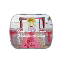 Rose Petals On The Red Carpet Wedding Candy Tin
