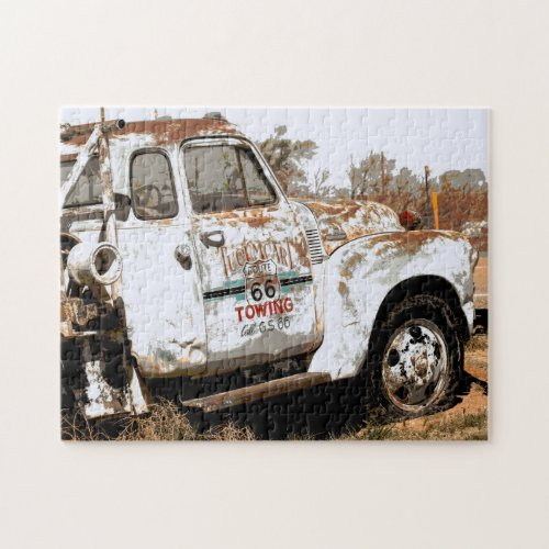 Route 66 Tow Truck in New Mexico Jigsaw Puzzle