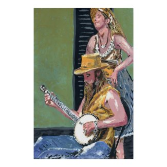 Royal St. Banjo Player print