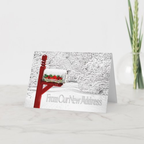 Rural Mailbox Christmas from New Address Holiday Card