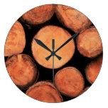 Rural Tree Trunks - Wall Clock