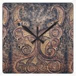 Rustic angel square wall clock