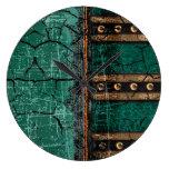 Rustic Antique Ancient Renaissance Tome 1 Large Clock