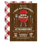 Rustic Barbecue Invitation