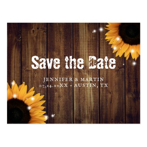 Rustic Barn Wedding Save The Date Postcards