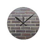 Rustic bricks wall clocks
