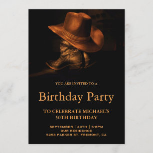 cowboy birthday invitations zazzle