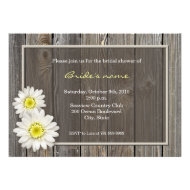 Rustic Daisy Bridal Shower Invitations