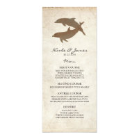 Rustic Dolphins Beach Wedding Menu Card