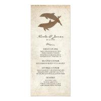 Rustic Dolphins Beach Wedding Menu Card