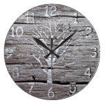 Rustic Driftwood Clock Artwork