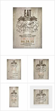 Rustic EAT DRINK AND BE MARRIED Wedding Collection