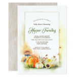 Rustic Fall Harvest Pumpkin Sunflower Baby Shower Invitation