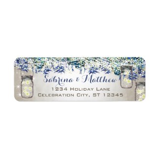 Rustic Luxe Vintage Peacock Wedding Return Address Label