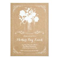 Rustic Mother's Day Invitation 5