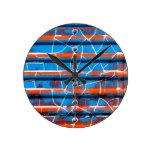 Rustic Peeling Paint Round Clock