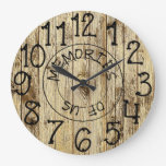 Rustic Personalized Wood Memories of Us Large Clock