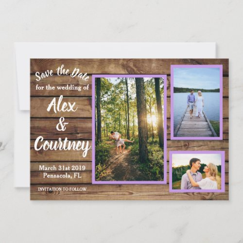 Rustic Save the Dates Thank You Card