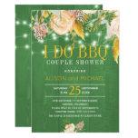 ❤️ Interesting Green Spring Floral I Do BBQ Invitation