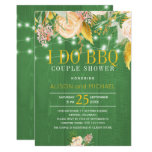 Interesting Green Spring Floral I Do BBQ Invitation