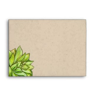 Rustic Succulent Wedding Envelopes