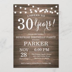 Male 30th Birthday Invitations Zazzle