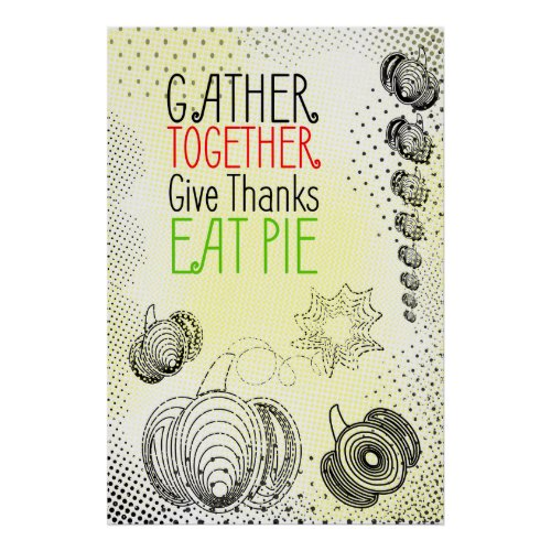 Rustic Thanksgiving design Poster