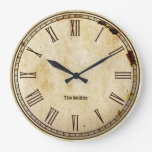 Rustic Vintage Roman Numeral Aged Clock Face
