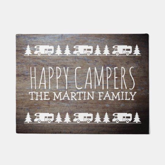 Mats Happy Personalized Door Campers