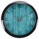 Rustic Wood Texture Aquavista Clocks