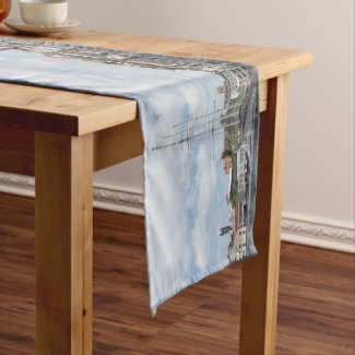 Sailing Boat at Grenada Caribbean Short Table Runner