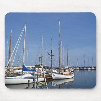 Sailing boats mousepad
