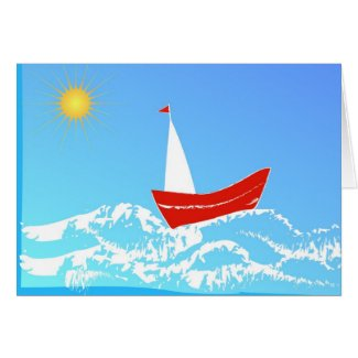 Sailing Greeting Cards